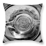 1962 Ghia L6.4 Coupe Wheel Emblem -2169bw Throw Pillow