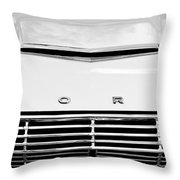 1963 Ford Falcon Futura Convertible  Hood Emblem Throw Pillow by Jill Reger