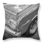 1963 Ford Falcon Sprint Convertible Bw  Throw Pillow