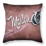 1965 Rambler Marlin Emblem Throw Pillow