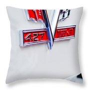 1966 Chevrolet Biscayne Emblem Throw Pillow