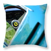 1966 Ferrari 275 Gtb Steering Wheel Emblem Throw Pillow