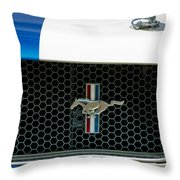 1966 Shelby Gt 350 Grille Emblem Throw Pillow