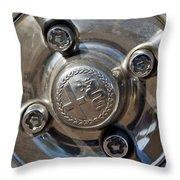 1967 Alfa Romeo Giulia Super Wheel Rim Throw Pillow