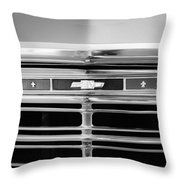 1967 Chevrolet Chevelle Malibu Grille Emblem Throw Pillow