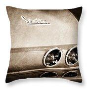 1967 Chevrolet Corvette Taillight Throw Pillow