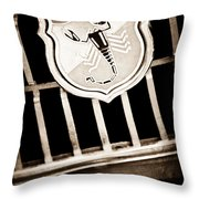 1967 Fiat Abarth 1000 Otr Emblem Throw Pillow