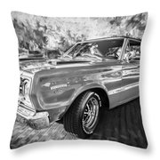 1967 Plymouth Belvedere Gtx 440 Painted Bw Throw Pillow
