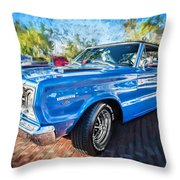 1967 Plymouth Belvedere Gtx 440 Painted  Throw Pillow