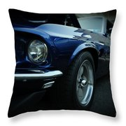 1969 Ford Mustang Mach 1 Fastback Throw Pillow