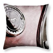 1969 Ford Mustang Mach 1 Side Emblem Throw Pillow