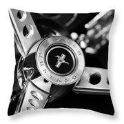 1969 Ford Mustang Mach 1 Steering Wheel Throw Pillow by Jill Reger