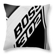 1970 Ford Mustang Boss 302 Emblem Throw Pillow