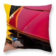 1971 Ferrari 365 Gtb-4 Daytona Spyder Hood Emblem Throw Pillow