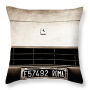 1972 Ferrari 365 Gtb -4a Grille Emblem Throw Pillow