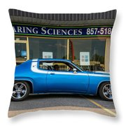 1974 Plymouth Roadrunner Throw Pillow