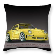 1997 Porsche  993 Twin Turbo Throw Pillow