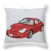 2002 Porsche 996  Throw Pillow