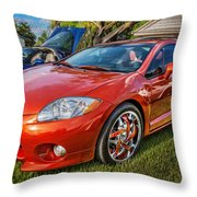 2006 Mitsubishi Eclipse Gt V6 Painted Throw Pillow