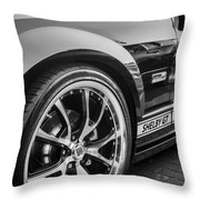 2007 Ford Mustang Shelby Gt Painted Bw   Throw Pillow