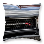 2011 Dodge Challenger Rt Black Throw Pillow