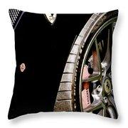 2011 Ferrari 599 Gto Emblem - Wheel Throw Pillow