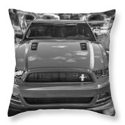 2013 Ford Mustang Gt Cs Painted Bw Throw Pillow