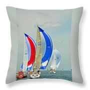 Flyer, Outlet Xpress And Fast Tango Throw Pillow