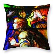 3 Men Throw Pillow