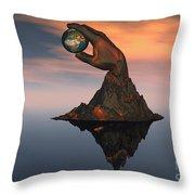 A 3d Conceptual Image Of The World Throw Pillow