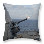 A Close-in Weapons System Is Fired Throw Pillow