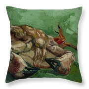 A Crab On Its Back Throw Pillow