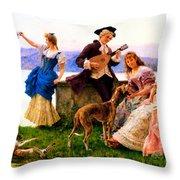 A Days Outing Throw Pillow