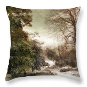 A Dusting Of Snow Throw Pillow