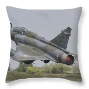 A French Air Force Mirage 2000d Taking Throw Pillow