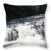 A Lovely View Of A Falls On Kayaderosseras Creek Throw Pillow