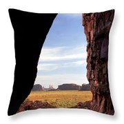 A Monument Valley View Throw Pillow