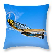 A North American P-51d Mustang Throw Pillow