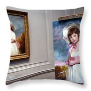A Painting Of A Painting Throw Pillow