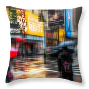 A Rainy Day In New York Throw Pillow by Hannes Cmarits