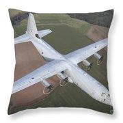 A Royal Air Force C130j Hercules  Throw Pillow