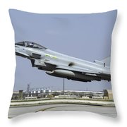 A Royal Air Forcetyphoon Fgr4 Taking Throw Pillow