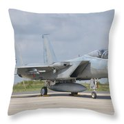 A Royal Saudi Air Force F-15c At Nancy Throw Pillow