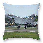 A Saab Jas 39 Gripen C Of The Royal Throw Pillow