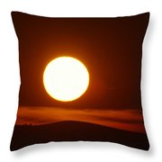 A Slow Red Sunset Throw Pillow