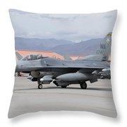 A U.s. Air Force F-16c Fighting Falcon Throw Pillow