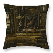 A Weaver's Cottage Throw Pillow