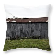 Abandoned Barn Kentucky Usa Throw Pillow