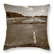 Abandoned Route 66 Throw Pillow