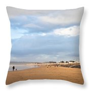 Aberafan Beach Throw Pillow